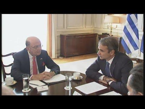 Τον υπουργό Εμπορίου των ΗΠΑ υποδέχθηκε  ο Κ.Μητσοτάκης