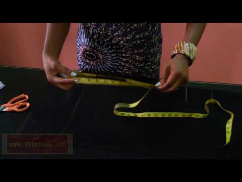 HOW TO CUT AND SEW A SIMPLE PENCIL SKIRT IN 10 MINUTES - A Must See DIY Video