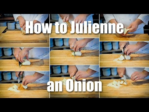 Learn To Properly Julienne An Onion And Keep Yourself From Crying