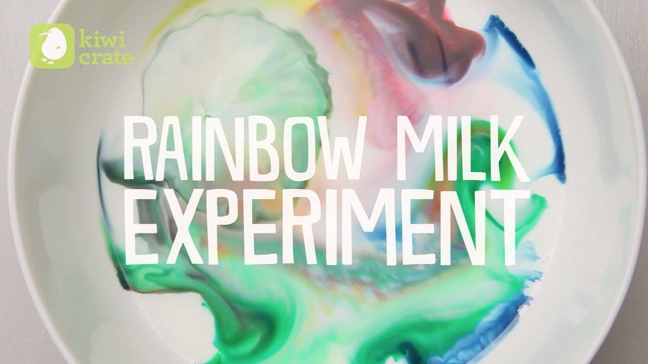 Milk Swirl Experiment