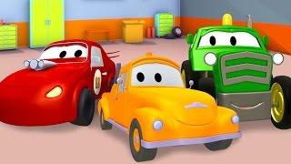 Эвакуатор Том, Гоночная машина, Бульдозер и Вертолет  | Мультфильм о машинках для детей и малышей
