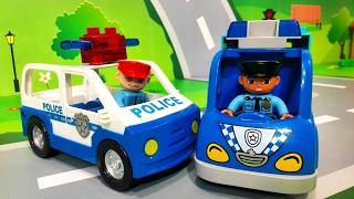 Мультики про полицейские машинки. Опасная ПОГОНЯ в ЛЕГО городе. Развивающие мультфильмы для детей