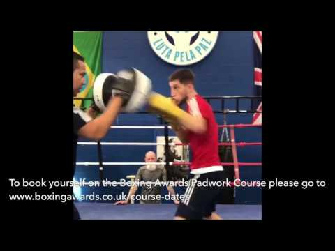 Level 1 Coaching Course / Padwork Demonstration - One handed ...