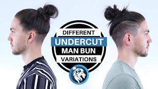 Different Undercut Man Bun Style Variations - Mens Long Hair