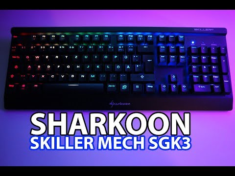 SHARKOON SKILLER MECH SGK3 | COOLE MECHANISCHE TASTATUR! KURZ&KNACKIG