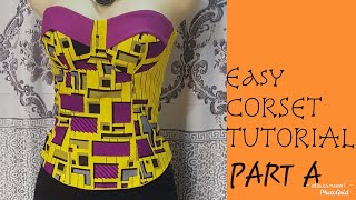 Cut And Sew A Corset/ Tube Top/bustier Blouse(Step By Step)