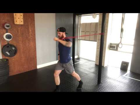 Banded One-Arm Chest Press