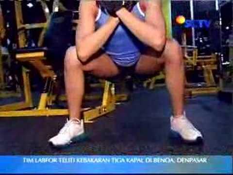 Perut rata dan kaki pelangsing