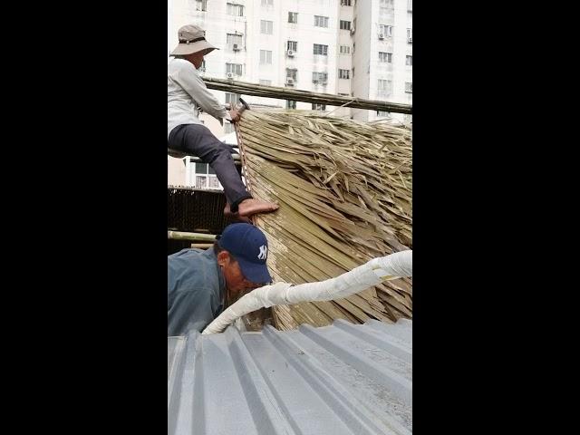Cách lợp lá dừa nước