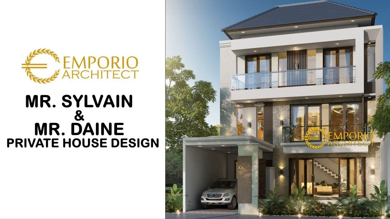 Video 3D Mr. Sylvain & Mr. Daine Modern House 3 Floors Design - Kerobokan, Badung, Bali