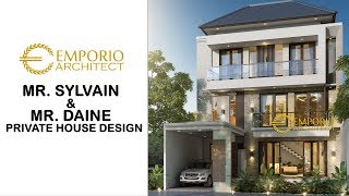 Video Mr. Sylvain & Mr. Daine Modern House 3 Floors Design - Kerobokan, Badung, Bali