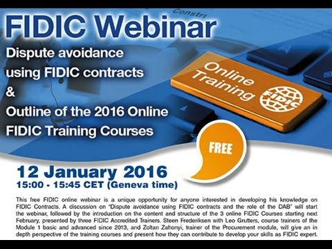 Introduction to FIDIC Contracts Courses & dispute avoidance ...