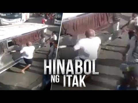 [GMA]  24 Oras: Driver ng bus, sinuntok at hinabol ng itak ng nakaalitang jeepney driver