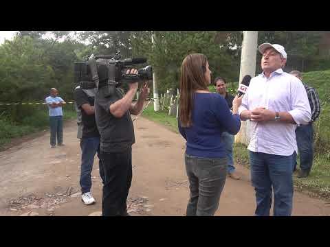 Prefeito Ayres Scorsatto fala com a Globo sobre a Represa do Calazan