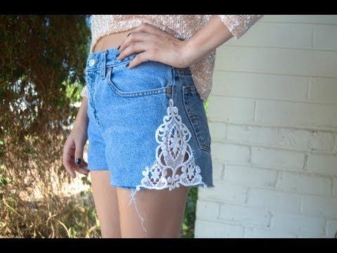 DIY: Celana Pendek Berenda
