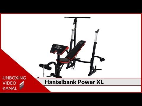Hantelbank Set Power XL - Unboxing Video
