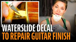 Waterslide decal to repair a guitar finish!