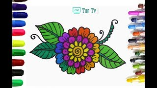 How To Draw Flower Coloring Pages