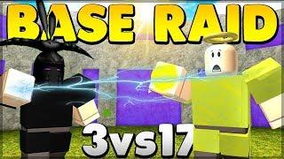 INTENSE FAN BASE RAID *3VS17* | Roblox: Booga Booga