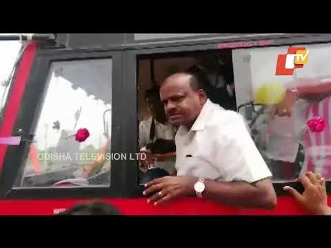 Karnataka CM Kumaraswamy Shouts At Protesters
