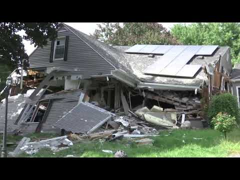 As investigators worked to pinpoint the cause of a series of dramatic natural gas explosions in three towns north of Boston, Massachusetts, Gov. Charlie Baker toured the neighborhood where an 18-year-old was killed by a falling chimney. (Sept. 14)