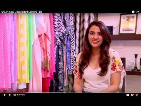 UAL in India: Meet student Namrata Puri