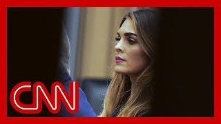 Congressman: Hope Hicks refused to answer these questions