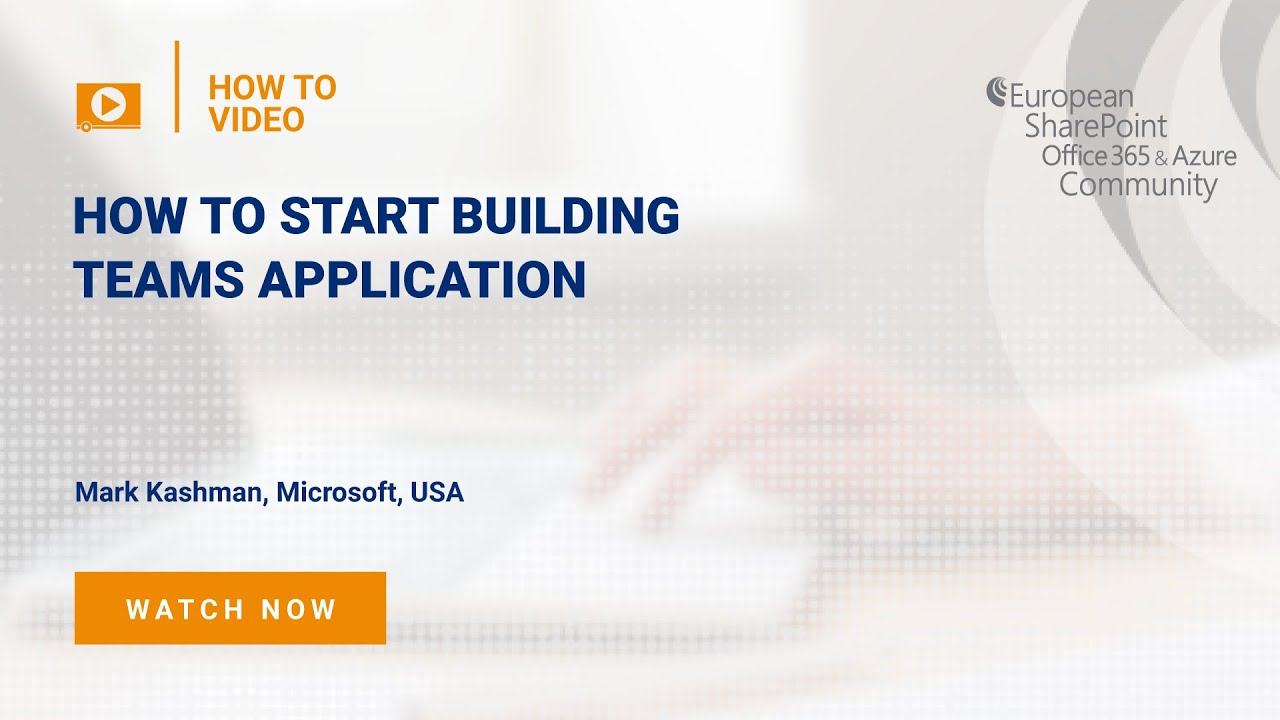 How To Start Building Teams Application