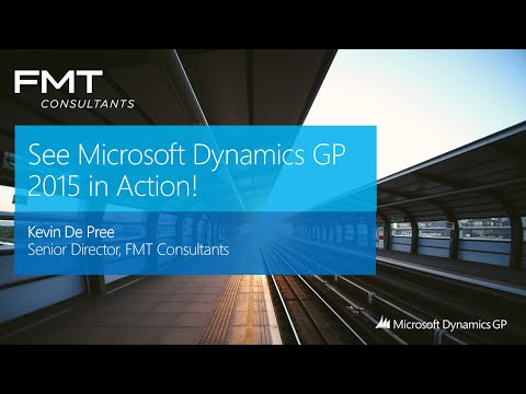 Microsoft Dynamics GP (Great Plains) 2015 Overview - YouTube
