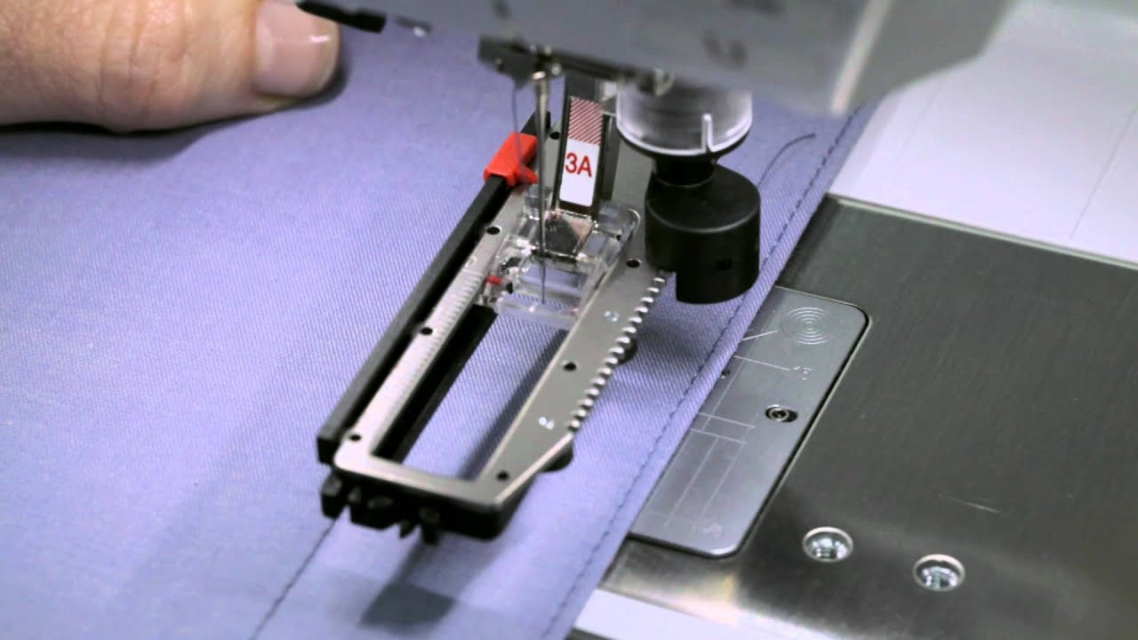 4/10 BERNINA 710 and 750 QE: how to sew buttonholes and how to sew on buttons