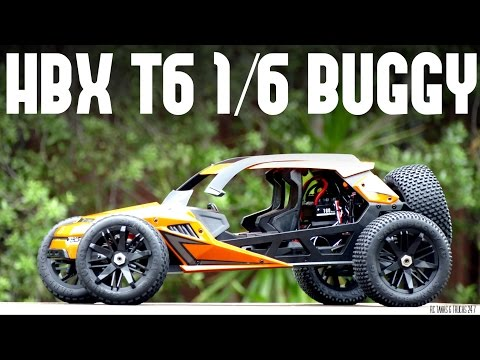 HBX T6 1/6 Scale HUGE RC Buggy – Unboxing and In-Depth Look