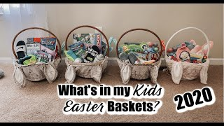 WHATS IN MY KIDS EASTER BASKETS 2020 ✝️🐰// 4 KIDS AGES 1-7// EASTER BASKET IDEAS // Mama Approved