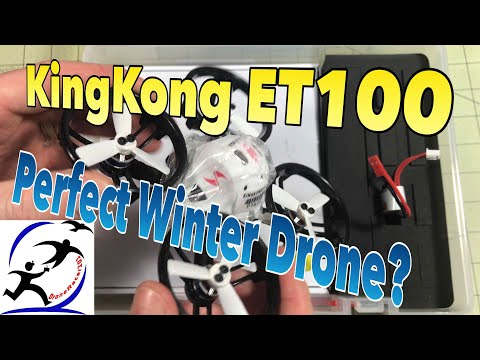 KingKong ET100 Brushless Indoor Racing Drone, Almost the perfect winter indoor racer.