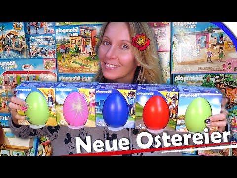 PLAYMOBIL 🐣 NEUE Ostereier 2019 👨👩👧👦 70083, 70084, 70085, 70086 + 9418 deutsch 🎥 Unboxing