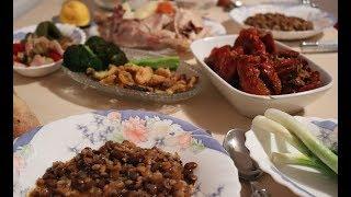 Турецкий ужин/Суп из зеленой чечевицы/Куру долма по-турецки