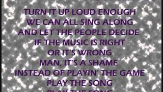 PLAY THE SONG - JOEY AND RORY WITH LYRICS