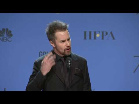 Sam Rockwell - Golden Globes 2018 - Full Backstage Speech