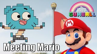 Gumball meets Mario with Super Mario sound effects and music