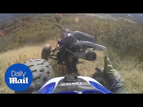 ATV Rolls Down Cliff After Rider Falls Off - Daily Mail