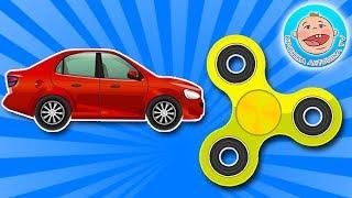 Коллекция любимых игрушек Fidget Spinner и Машинки Новый Сборник Мультики для Детей