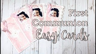 Easy First Communion Cards