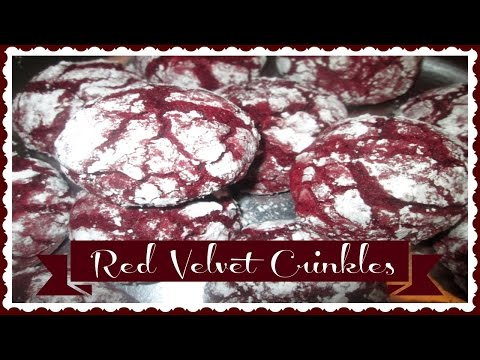 Holiday Cookie Recipes Part 3: Red Velvet Crinkle Cookies