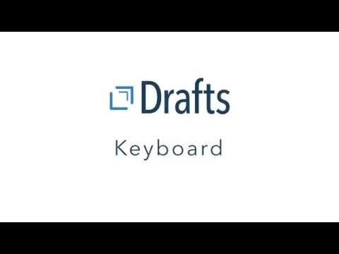 The Extended Keyboard | Getting To Know Drafts With David Sparks