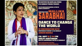 Dance To Change The World: The 6th Sarah Kailath Memorial Lecture By Mallika Sarabhai