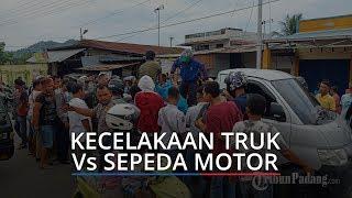 Kecelakaan Truk Vs Sepeda Motor di Jalan By Pass Lubuk Begalung