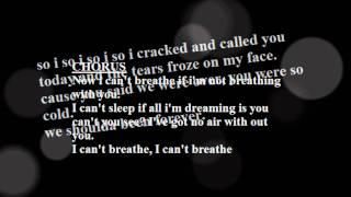 Fefe Dobson cant breathe lyrics