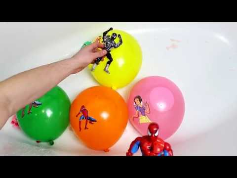 2 Spiderman Balloons Finger Family Song Learn Colors With Spider-Man Nursery Rhymes For Toddlers