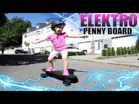 DAS KLEINSTE & SCHNELLSTE ELEKTRO PENNY BOARD | Lou Skateboard Review – Test [Deutsch]