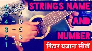 Beginners Guitar Lesson 3 - Guitar Strings Names And Number In Hindi