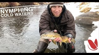HOW TO FLY FISH COLD WINTER WEATHER nymphing for brown trout